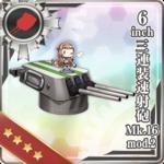 6inch三连装速射炮 Mk.16 mod.2