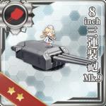 8inch三连装炮 Mk.9