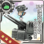 12.7cm连装高角炮+94式高射装置